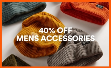 40% off Men's Accessories. Click to Shop.