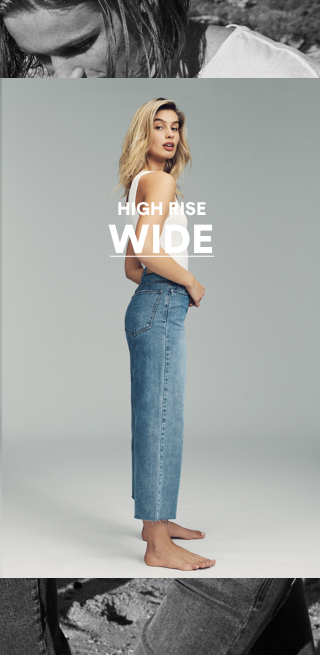 Women's High Rise Wide Jeans
