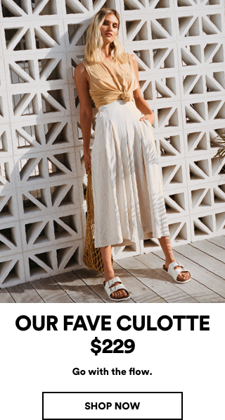 Our Fave Culotte $229. Click to shop.