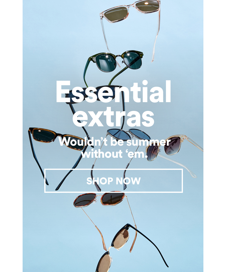 Essential Extras. Click to Shop Accessories.
