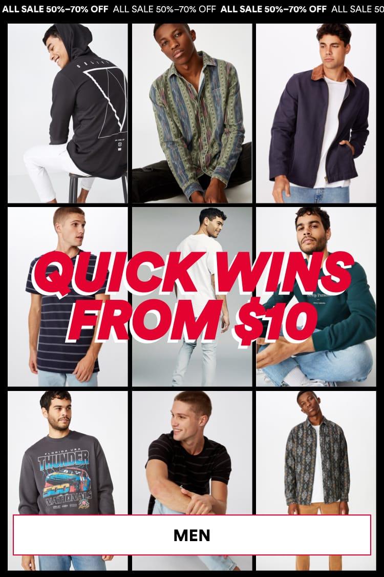 Men Sale. Click to Shop.