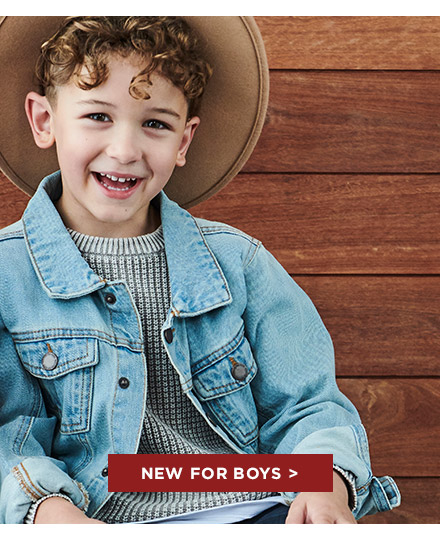 New for Boys. Shop Now.