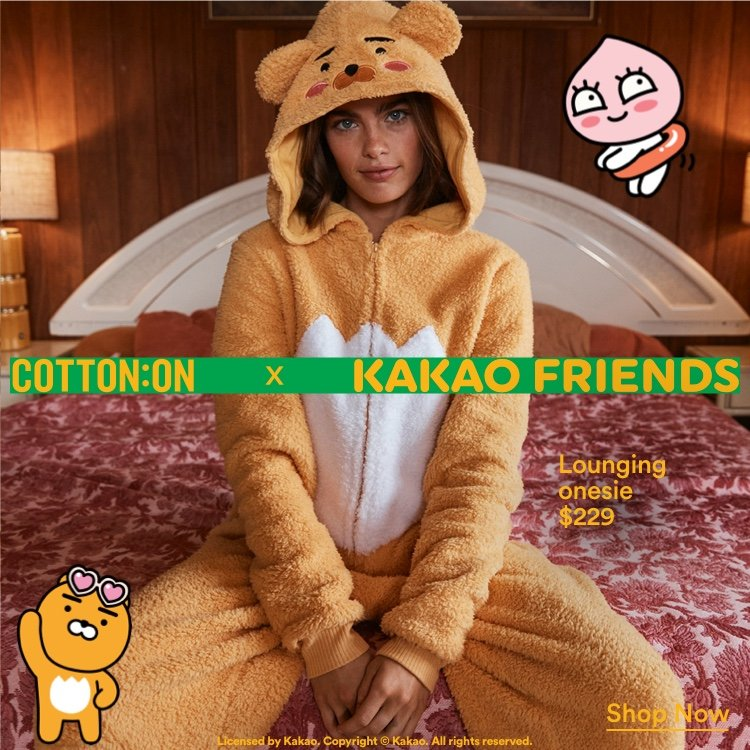 Cotton On X Kakao Friends. Click To Shop