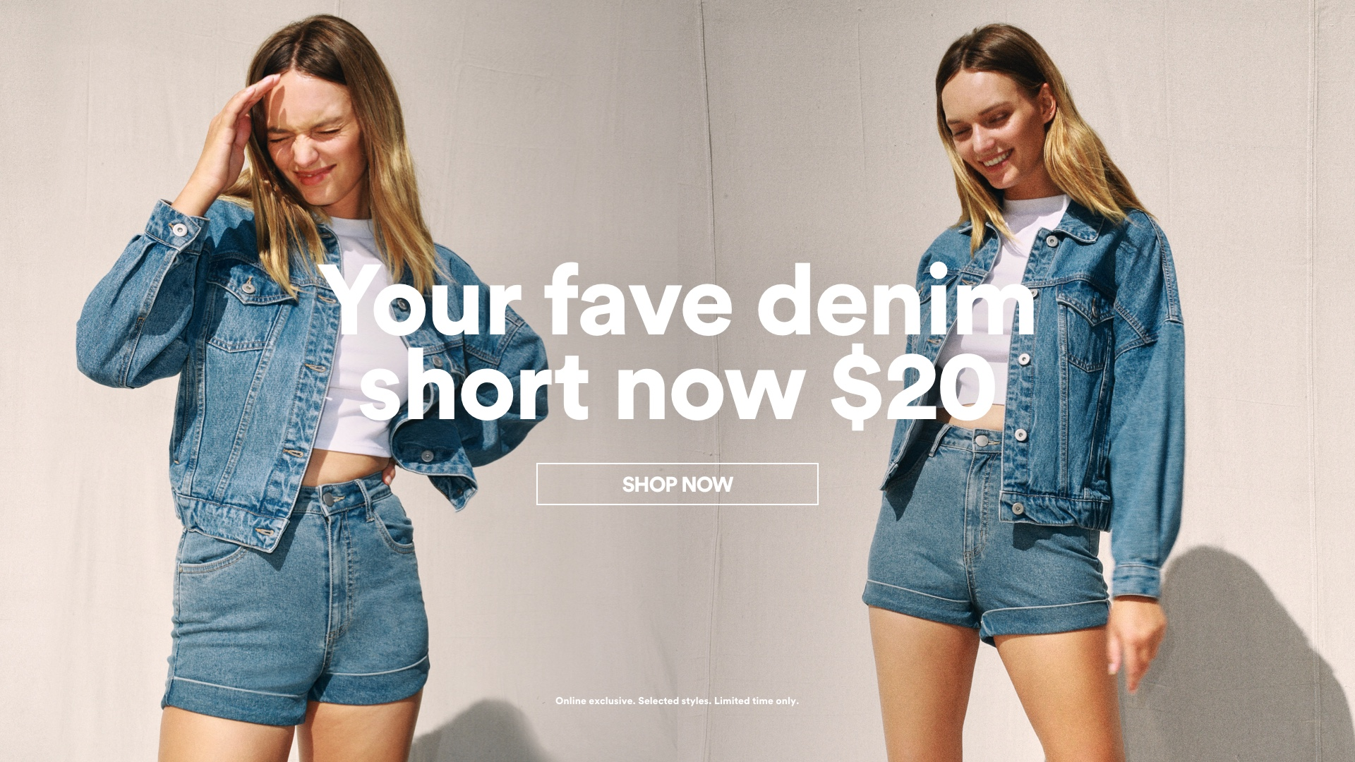 Cotton On. Your Fave Denim Short Now $20. Click to Shop Womens.