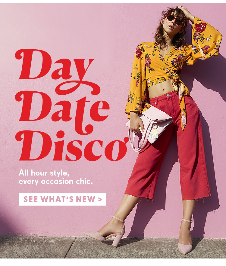 Day Date Disco | See What's New | Shop Rubi Shoes And Accessories New Arrivals