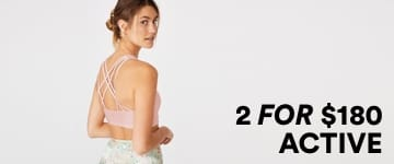 Women's 2 for $180 Activewear. Shop Now.