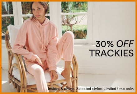 30% Off Women's Trackies. Click to Shop