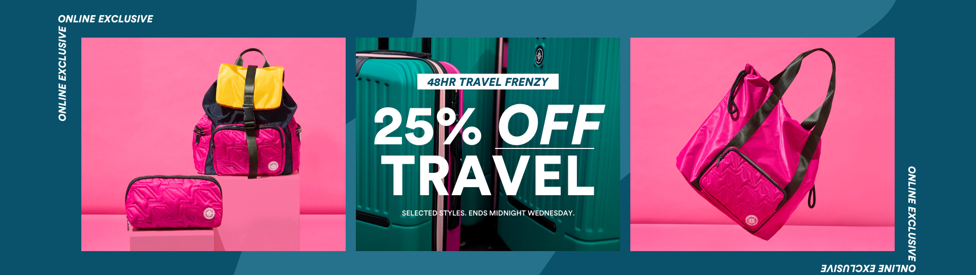 25% Off Travel. 48 hours only. Ends Midnight Wednesday.