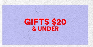 Gifts Under 20. Click to shop.