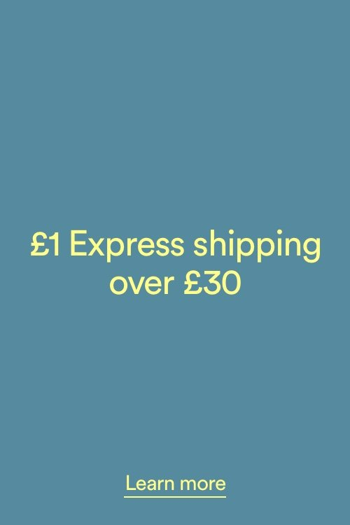 £1 Express Shipping over £30. Click to Learn More.