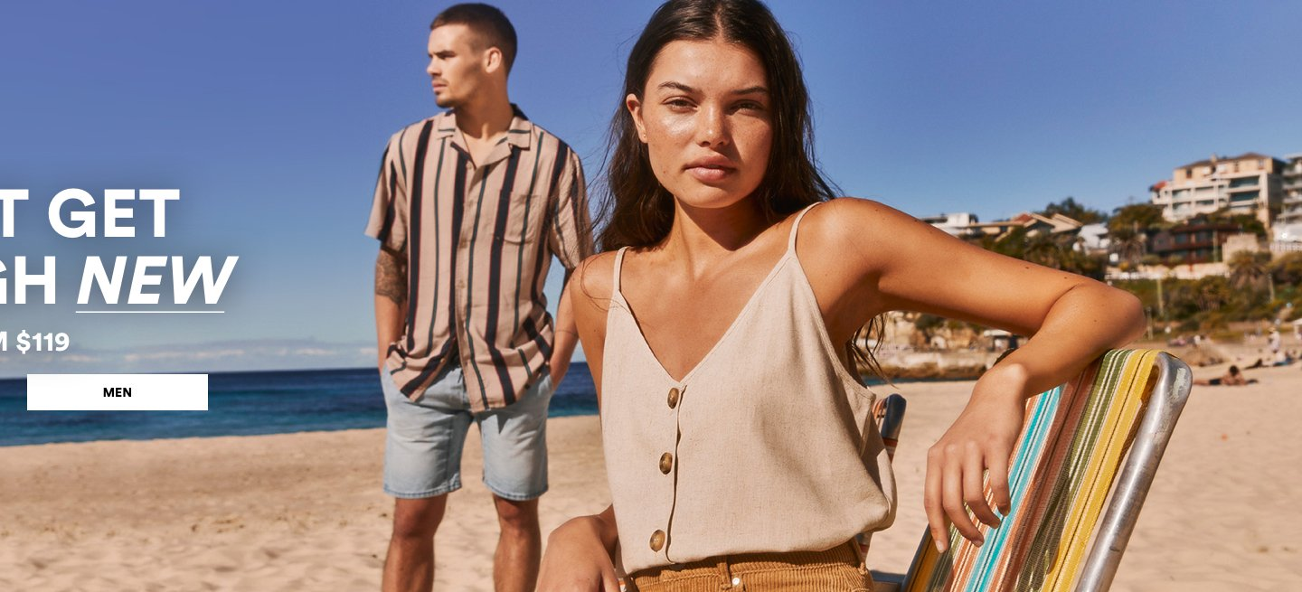 Can't get enough new. New Arrivals from $119. Click to shop mens.