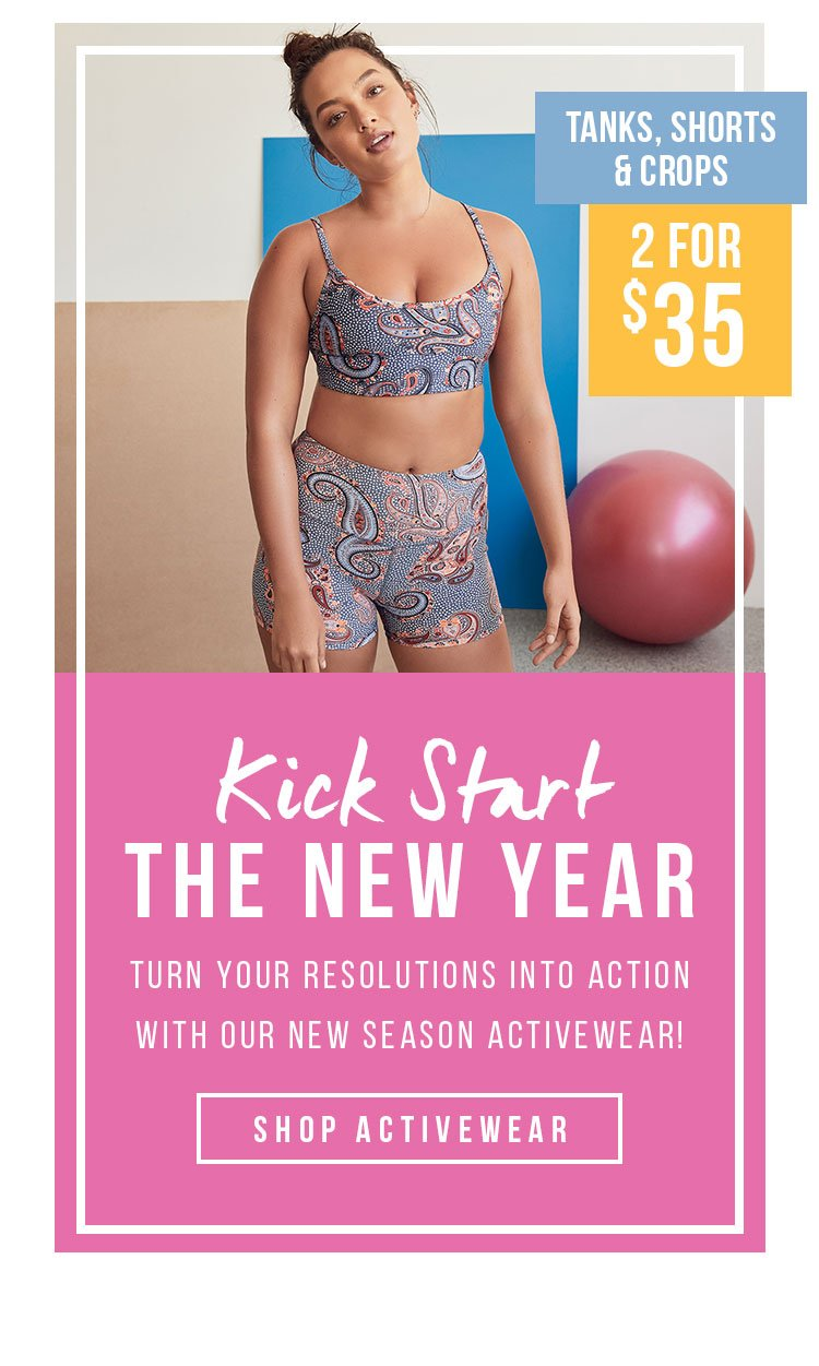 Kick Start The New Year | Turn Your Resolutions Into Action With Our New Season Activewear