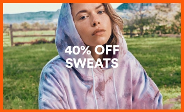 40% off Women's Sweats. Click to Shop.