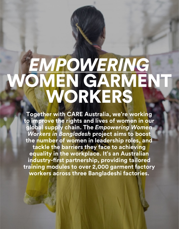 The Good Empowering Women garment workers. Click for more information.