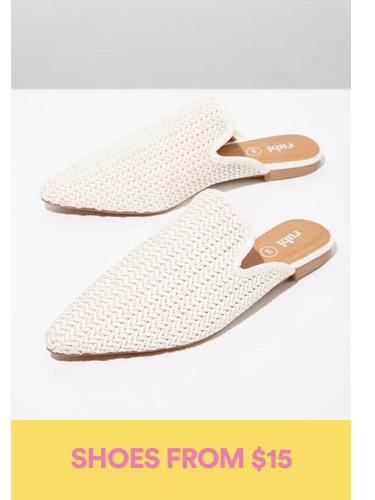 Shoes from $15. Click to shop.