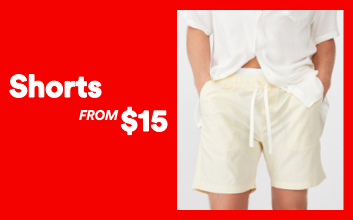 Shorts From $15. Click to shop.