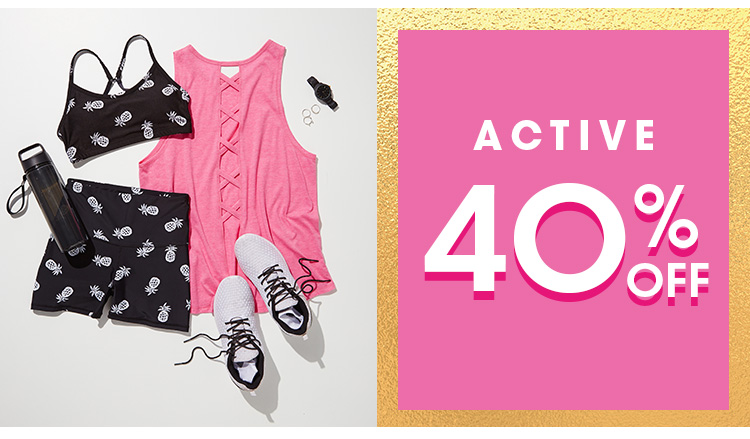Shop 40% Off Selected Active