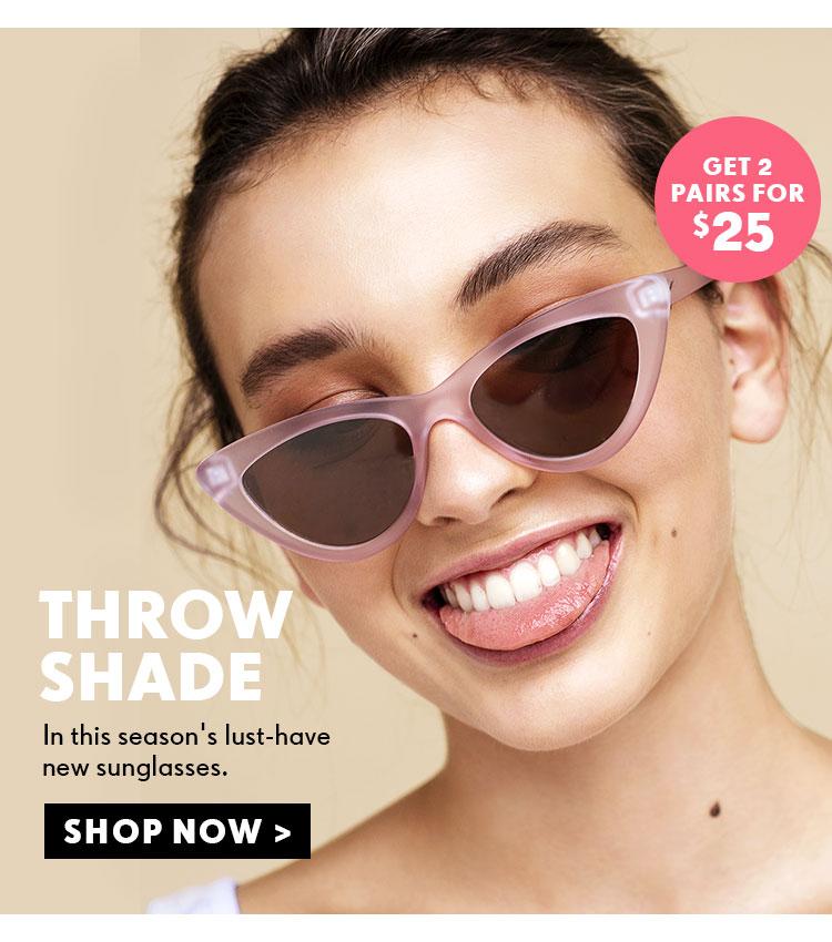 Happy New Hues   Make A Sunglasses Statement   Shop Sunglasses Online Now