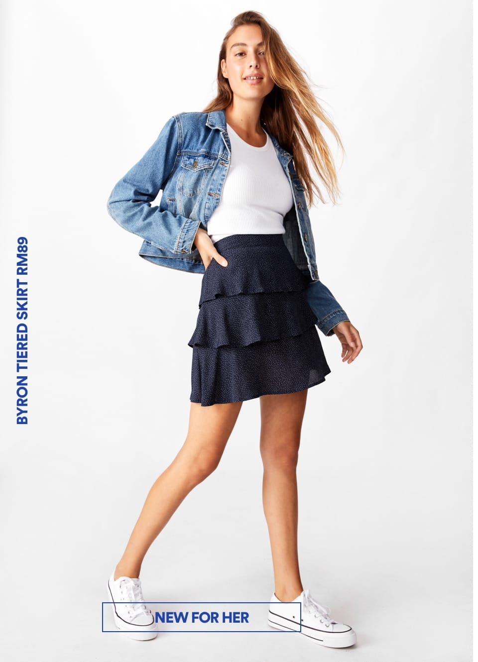 Byron Tiered Skirt. Click To Shop Womens.