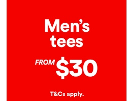 Mens Tees From $60. T and Cs apply. Click to Shop.