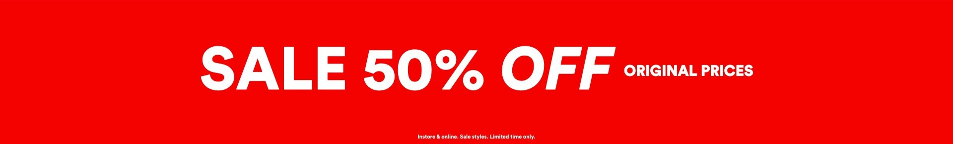 Sale 50% Off Original Prices