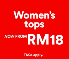 Women's Tops, Now From RM18. Click to Shop.