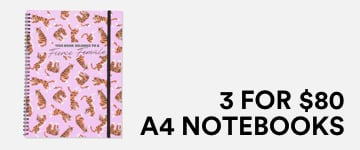 Shop 3 for $90 A4 Notebooks
