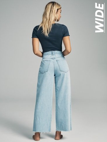 Wide Jeans. Click to shop.