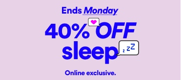 Cotton On. 40% off Sleep. Limited time only. Click to shop.
