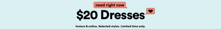 $20 Dresses. Click to Shop.