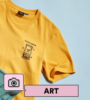 Art Tees. Click to shop.
