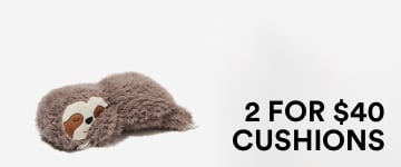 2 for $40 Cushions. Click to Shop.