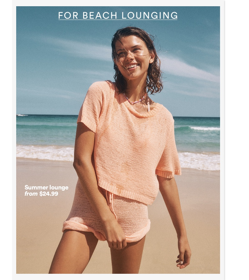 For beach lounging. Click to shop.