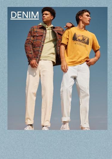 Men's Denim. Click to Shop.