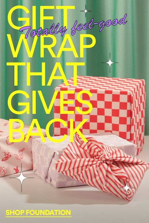 Click to Shop Gift Wrap that Gives Back