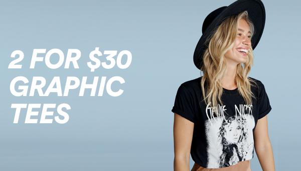 Cotton On 2 for $30 Graphic Tees. Click To Shop