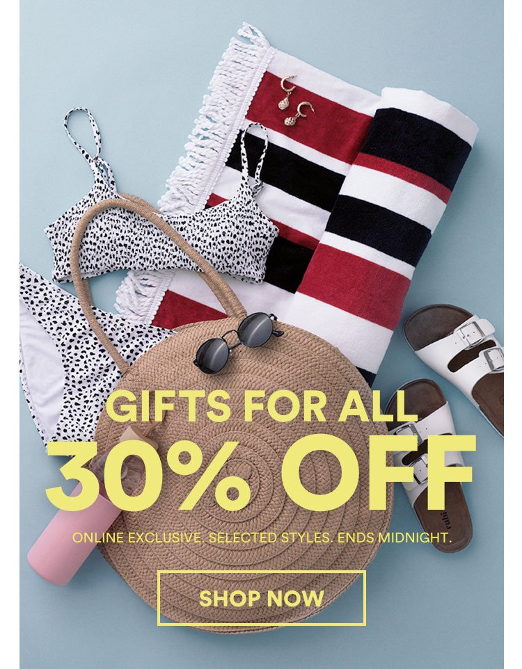 30% Off Gifts. Click to Shop.