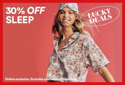 30% Off Sleep. Click To Shop