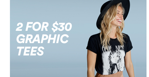Cotton On. 2 for $30 Graphic Tees. Click to shop.