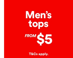 Men's Tops from $5. Click to shop.