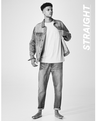 Men's Straight Jeans. Click to Shop.