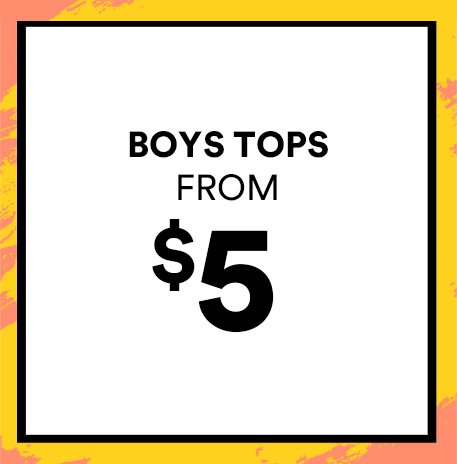 Boys Tops from $5