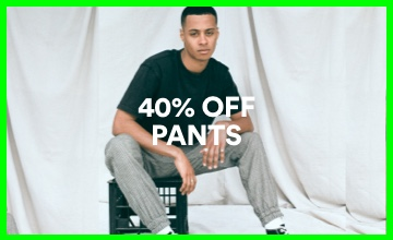 40% off Men's Pants. Click to Shop.