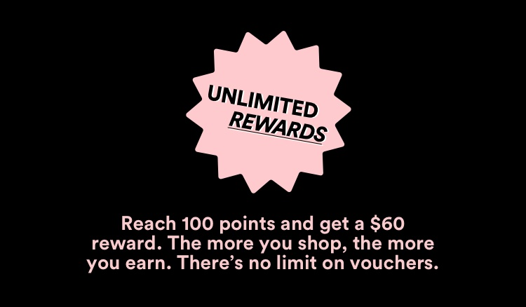 Unlimited Rewards: Reach 100 points and get a $60 reward.