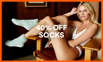 40% off Socks. Click to Shop.