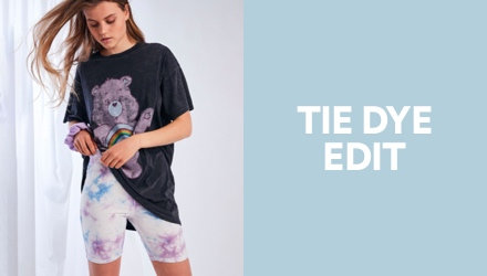 Tie Dye Edit. Click to shop.