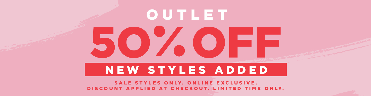 Outlet. 50 Percent Off