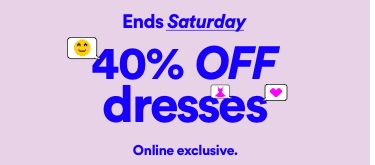 Cotton On. 40% off Dresses. Limited time only. Click to shop.