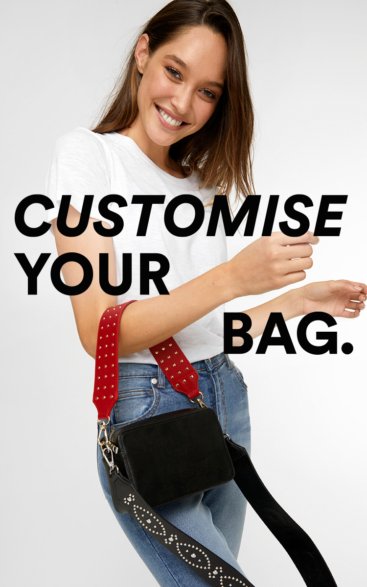 Customise your Bag. Stevie Bag + Any Strap $30. Click to Shop.