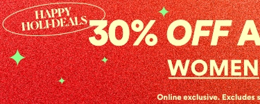 30% off active | Online exclusive. Excludes sale. Ends midnight monday | Click to Shop Womens.
